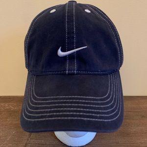VTG Nike Hat 1990's Swoosh Logo Strapback Hat Cap